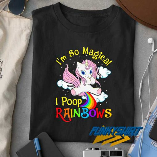 Poop Rainbows Magic Unicorn t shirt