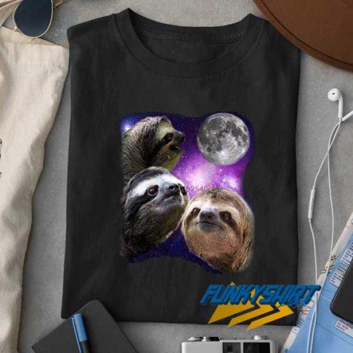 Sloth Three Moon Meme t shirt